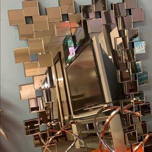 Accent mirror silver finish